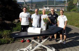 SV Oberharmersbach sagt »Danke« für die neue Therapieliege