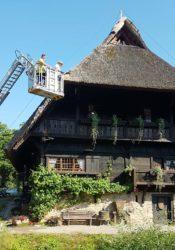Reetdach des Heimatmuseums »Fürstenberger Hof« repariert