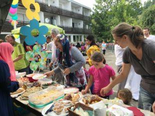 Großes Sommerfest in der Flüchtlingsunterkunft »Laube«
