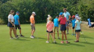 Hitzeprogramm beim Feriencamp der Gröbernhofer Golfjugend