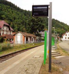 Harmersbachtalbahn mit neuem Infosystem