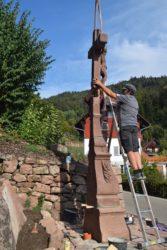 Kruzifix am Weiherbühl steht wieder an seinem Standort