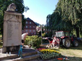 Nordracher Soldaten-Denkmal wurde hergerichtet und gereinigt