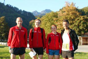 Franziska Schmieder und Nadia Dietz überzeugten am Sonntag beim Hochfelln-Berglauf