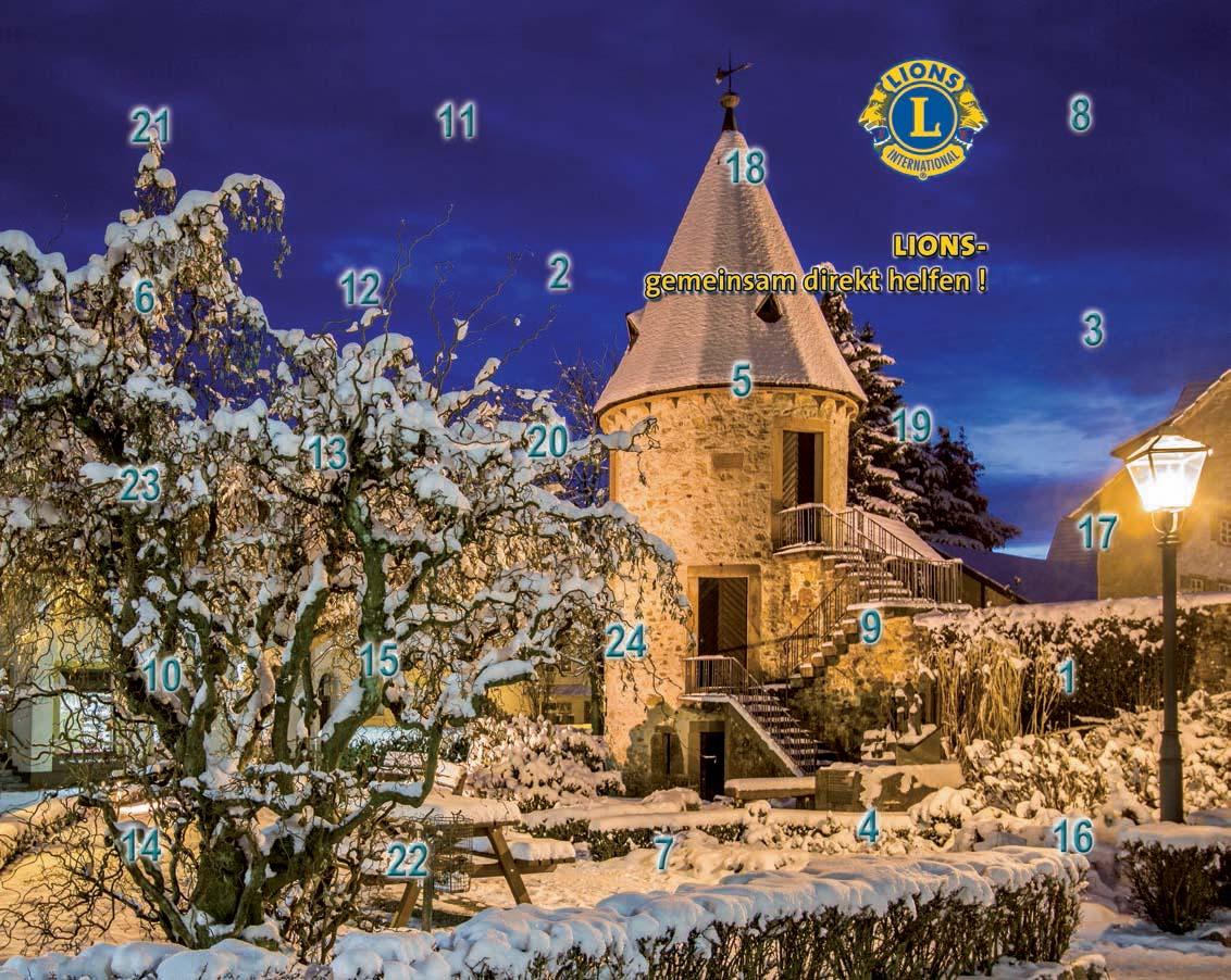 Gewinn Weihnachtskalender.Mit Dem Lions Adventskalender Gemeinsam Direkt Helfen