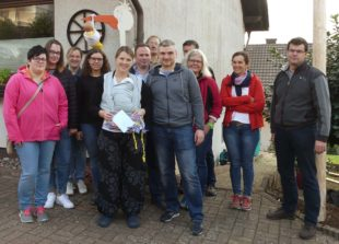 Trachtenkapelle Nordrach stellt Storch für Joschua Kimmig
