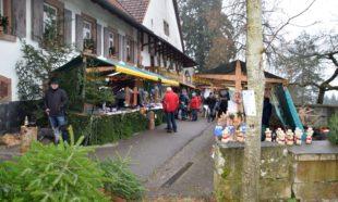 Am Wochenende Weihnachtsmarkt auf dem Mühlstein