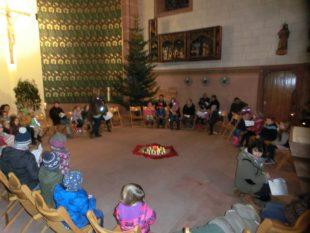 Weihnachtliche Lichterfeier für Turnkinder der DJK Oberharmersbach