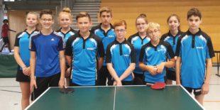 Zwischenrangliste der Tischtennis-Jugend