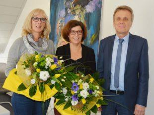 Anwaltsbüro Peter Scheid ehrt zwei langjährige Mitarbeiterinnen