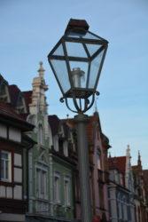 Vier Altstadtleuchten in der Zeller Oberstadt