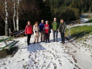 Bei herrlichem Winterwetter zum Kuhhornkopf