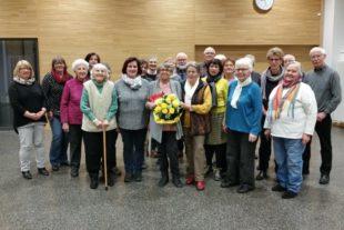 Katholischer Kirchenchor gratulierte Brunhilde Burger zum Geburtstag
