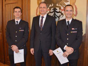 Philipp Schilli ist nun neuer Kommandant der Zeller Feuerwehr