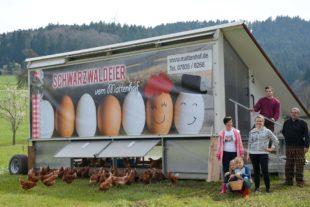 Der Mattenhof in Unterharmersbach hat jetzt ein Hühnermobil