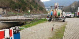 Glasfaser für den Norden Nordrachs wird verlegt