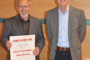 Klaus Steinborn zum Ehrenmitglied ernannt