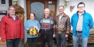 Glückwünsche zum 80. Geburtstag von August Lehmann