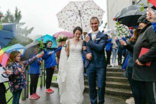 Rock'n'Roll-Abteilung gratulierte Jana und Felix Herrling zur Hochzeit