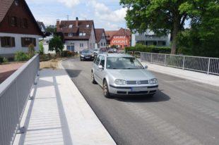 Neue Rössle-Brücke ist seit heute wieder befahrbar