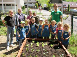 Kleine Gärtner pflanzen Gemüse
