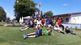 E-Jugend des ZFV beim Fußballgolf