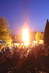 Schwarzwaldverein Biberach: Sonnwendfeier mit Feuer