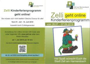 »Zelli« Ferienprogramm ab sofort online