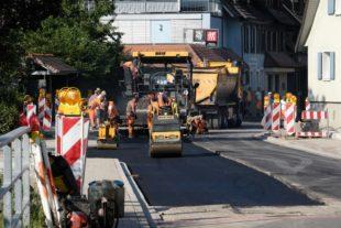 Vollsperrung der Hauptstraße in der Oberstadt geht dem Ende entgegen