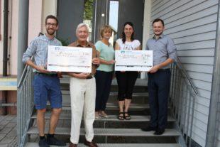 Je 1.000 Euro für Kindergarten Wirbelwind und Jugendhospiz-Dienst