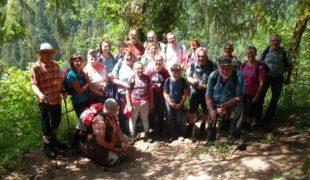Wanderer waren mit der Sauschwänzle-Bahn unterwegs