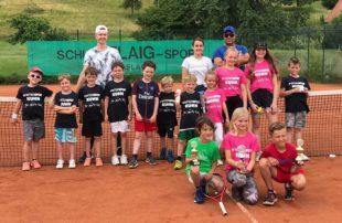 Jede Menge Spaß beim Tenniscamp