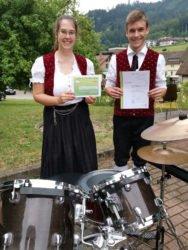 Trachtenkapelle Nordrach freut sich mit Schlagzeuger Ruben Fehrenbacher