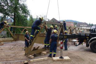 Rückbau von Kurgartenbrücke und Kurgarten geht zügig voran
