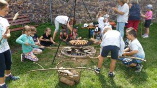 Ferienkinder waren von der Hohengeroldseck begeistert