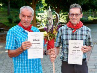 Michael Schmider und Ferdinand Motruk feierten Pilgerjubiläum