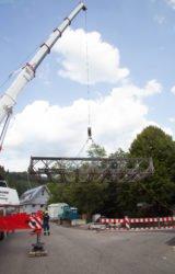 Behelfsbrücke ist wieder abgebaut