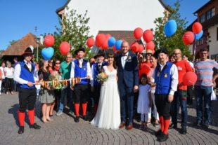 Hochzeitsspalier für Isabell Berger und Stefan Soosten