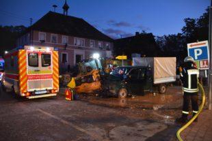 Heute morgen schwerer Unfall mitten in Unterharmersbach