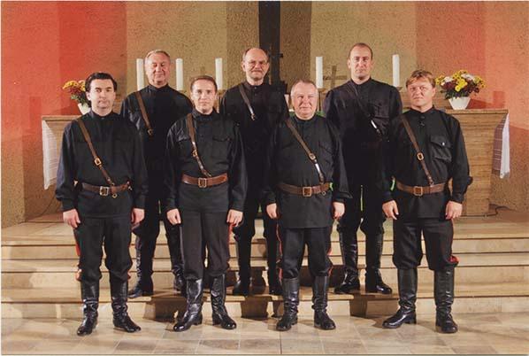 Chorgesang in der Kirche mit den Maxim Kowalew Don Kosaken aus Russland