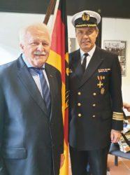 Fregattenkapitän Michael Meding wurde in den Ruhestand verabschiedet