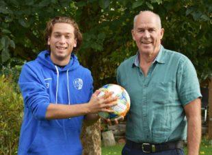 Neuer Ortsvorsteher Ludwig Schütze spendet FVU-Spielball