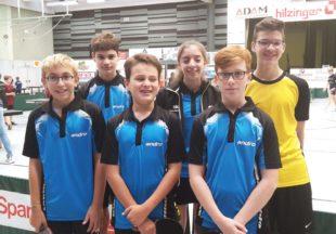 Tischtennis-Jugend der DJK qualifizierte sich für die Zwischenrangliste
