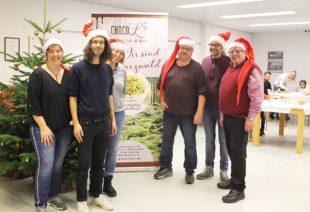 Alessio Hirschkorn von den Fallers beim Nordracher Weihnachtsmarkt