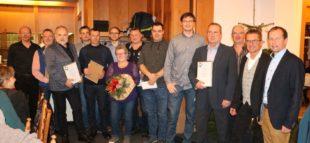 Zehn langjährige Mitarbeiter für zusammen 265 Jahre Treue geehrt