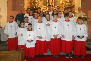 Christen hören Weihnachtsbotschaft
