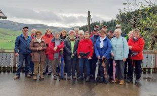 Seniorenwanderer waren gerne in heimischen Gefilden unterwegs