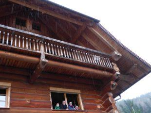 Ein Haus rein aus Tanne