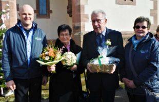 Chor gratuliert Josef und Irma Repple zur Diamantenen Hochzeit