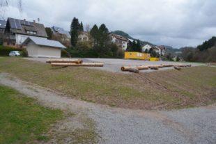 Baustellenlager Hinterhambach wird zur Hälfte wieder zurückgebaut